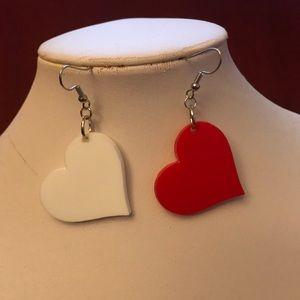 Jewelry - Heart shaped acrylic earrings